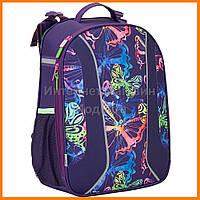 """Рюкзак """"KITE"""" Neon butterfly  каркаcний 703, арт. K17-703M-1-1301"""
