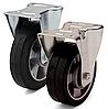 Колесо з еластичної гуми, діаметр 200 мм, з неповоротним стандартним кронштейном