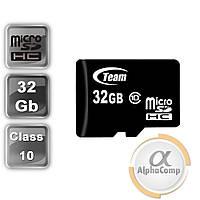 Карта памяти microSD 32Gb Team SDHC (class 10) (TUSDH32GCL1002)