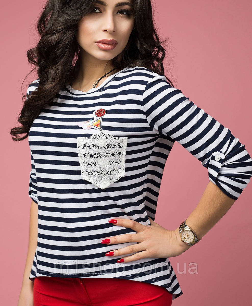 Полосатая блузка (Аквамарин lzn)
