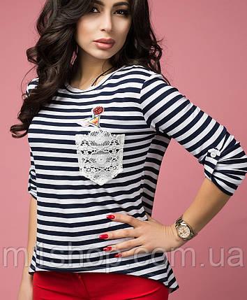 Полосатая блузка (Аквамарин lzn), фото 2