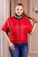 Стильная  демисезонная куртка с короткими рукавами кимоно