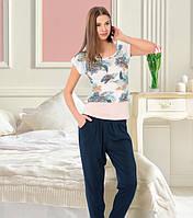 Комплект футболка, майка и штаны VIOLET 15091-R Турция. Размер L.