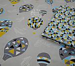 """Ткань хлопковая  """"Воздушные шары и аэропланы"""", фон серый ( № 676 б), фото 3"""