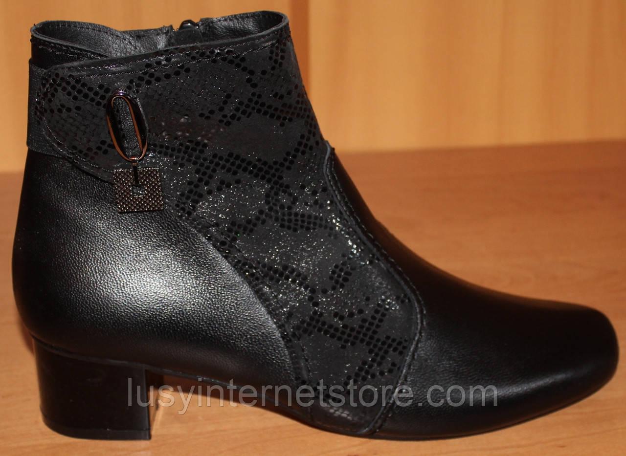 Кожаные ботинки весна на каблуке большого размера от производителя модель МИ3546-5