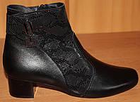 Кожаные ботинки весна на каблуке большого размера от производителя модель МИ3546-5, фото 1