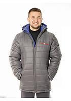 Зимняя СЕРАЯ мужская куртка, размеры 46-52