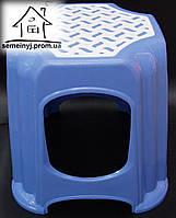 Стул, табурет пластиковый малый (голубой) С015
