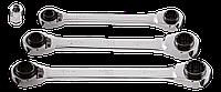 Ключи с трещоткой 4 в 1,  компл. 3 шт. 8 - 19 мм 09-795