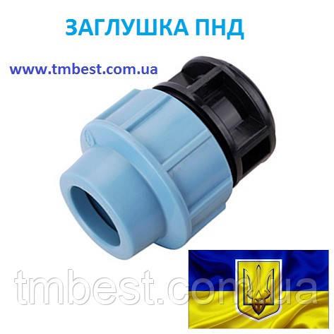 Заглушка 110 ПНД затискна компресійна, фото 2