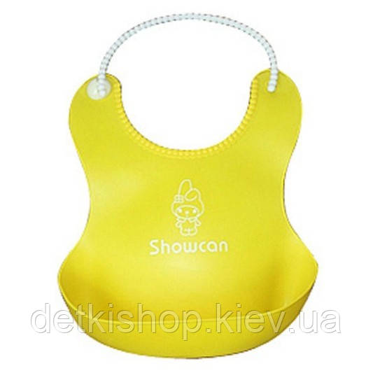 Слюнявчик с карманом «Showcan» (жёлтый)