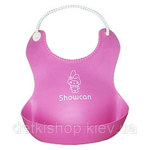 Слюнявчик с карманом «Showcan» (розовый)