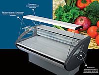 Холодильная витрина RIMINI 1,5-Н с плоским стеклом, Холодильна вітрина RIMINI 1,5-Н з плоским склом