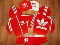 Спортивный костюм для девочки Adidas красный