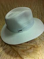 Шляпа мужская белая с белой лентой поля 8.7см, фото 1