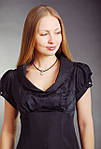 Платье  шелковое грифель жаккард трапеция женское (ПЛ 016), фото 2
