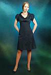 Платье  шелковое грифель жаккард трапеция женское (ПЛ 016), фото 4