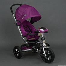 Велосипед-коляска Best Trike 698 с опускающейся спинкой (фиолетовый)