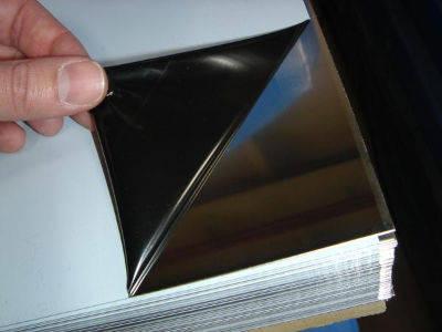 Лист нержавеющий 0,5х1250х2500мм AISI 430(12Х17) BA+PVC зеркальная поверхность в плёнке