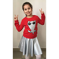 """Детский костюм батник с юбкой """"Совушка"""" (2 расцветки)"""