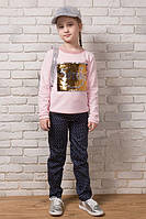 """Детские стильные брюки коттон """"Горох"""" (58-050)"""