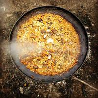 Сковорода 50см из диска бороны со съемными ручками