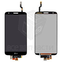 Дисплей для мобильных телефонов LG G2 D802, черный, с сенсорным экраном, original (PRC), 20 pin