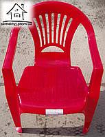 Кресло, стул пластиковый (красный) С019