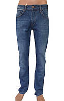 Мужские джинсы темно-синие с прямой штаниной
