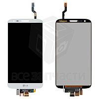 Дисплей для мобильных телефонов LG G2 D802, белый, с сенсорным экраном, original (PRC), 20 pin