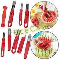 Набор ножей для карвинга (резьба по овощам) 8 штук (пластмассовая ручка, стальное лезвие)