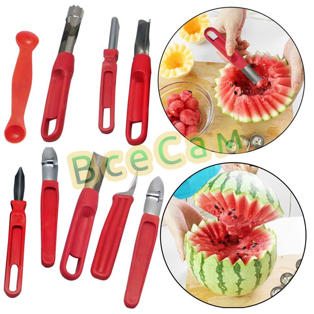 набор ножей для карвинга резьба по овощам 8 штук пластмассовая ручка стальное лезвие