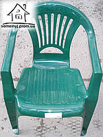 Кресло, стул пластиковый (зеленый) С020