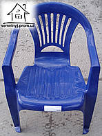 Кресло, стул пластиковый (синий) С021