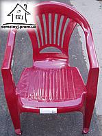 Кресло, стул пластиковый (бордовый) С022