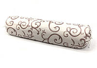 Валик подушка с гречневой шелухой, 13х60см