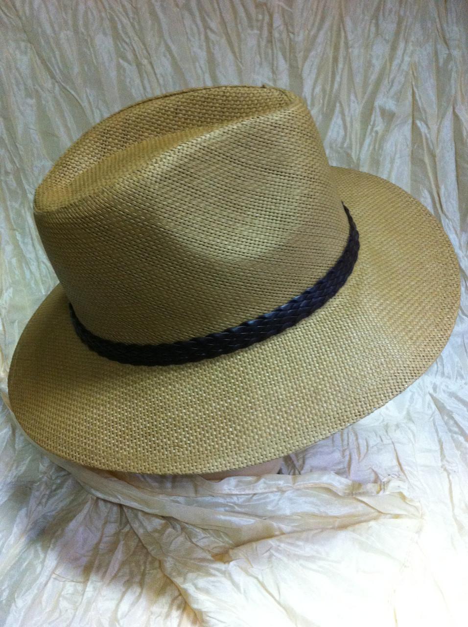Шляпа коричневая летняя мужская