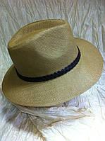Шляпа коричневая летняя мужская , фото 1