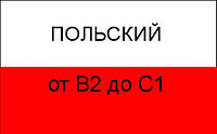 Польский язык от В2 до В2+; от В2+ до С1.