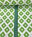 Хлопковая ткань польская ромбы с точками зеленые, фото 2