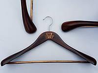 Плечики вешалки тремпеля  комиссионные (б/у) Mainetti Kazara LB коричневого цвета, длина 45 см