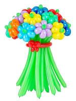 Букет цветов из длинных воздушных шариков (11 штук)