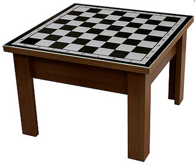 Стол трансформер с декоративной столешницой P01Шахматы