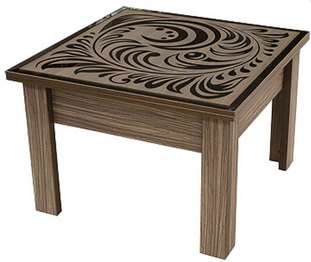 Стол трансформер с декоративной столешницой P02Петриковка