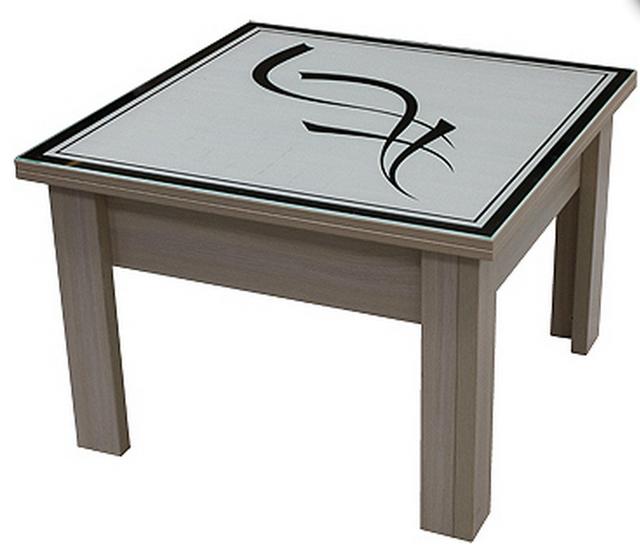 Стол трансформер с декоративной столешницой P03Узор