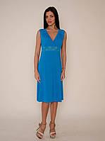 Платье домашнее, сорочка 444 бирюзового цвета. Большие размеры.