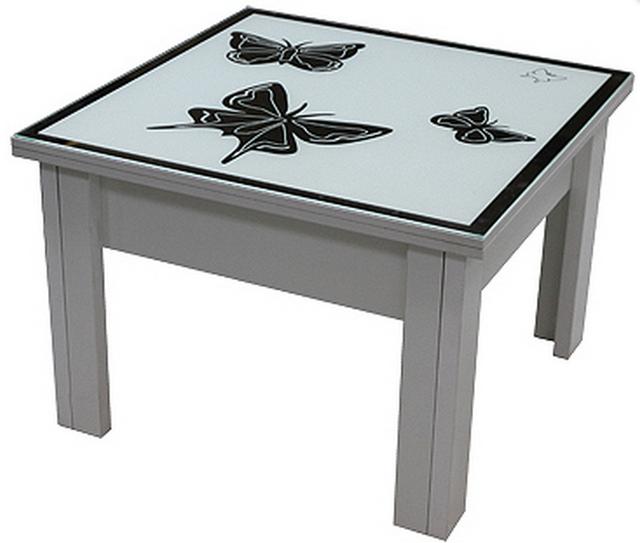 Стол трансформер с декоративной столешницой P04Бабочки