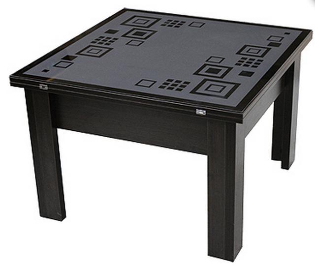 Стол трансформер с декоративной столешницой P05Орнамент