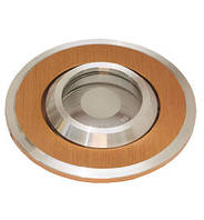 Точечный светильник неповоротный Delux HDL16141 IP44 золото-орех