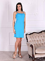 Платье домашнее, сорочка 446 бирюзового цвета